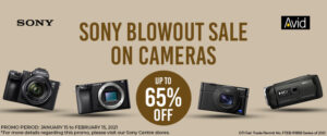 SONY BLOWOUT SALE ON CAMERAS